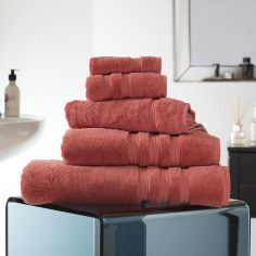 Hotel Quality Opulence 100% Cotton 800gsm Bathroom Towel - Cinnamon Orange