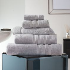 Hotel Quality Opulence 100% Cotton 800gsm Bathroom Towel - Silver Grey