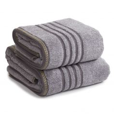 Berkley 100% Cotton Bathroom Towel with Marle Effect - Charcoal Grey
