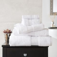 Bliss Pima 100% Cotton 650gsm Bathroom Towel - White