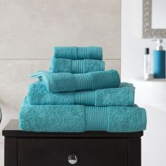Bliss Pima 100% Cotton 650gsm Bathroom Towel - Teal Blue