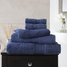 Bliss Pima 100% Cotton 650gsm Bathroom Towel - Denim Blue
