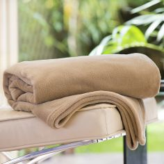 Soft Snuggle Touch Throw - Latte Beige