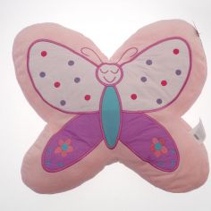 Butterfly Shaped Filled Cushion - Pink