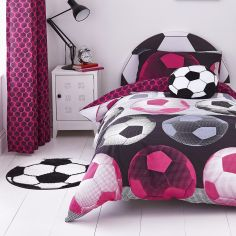 Catherine Lansfield Neon Football Duvet Cover Set - Pink