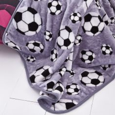 Catherine Lansfield Football Throw - Grey