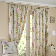 Firenze Floral Fully Lined Tape Top Curtains - Multi