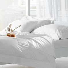 Luxury 800TC Cotton Sateen Duvet Cover Set - White