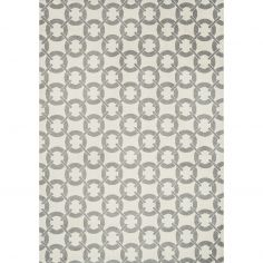 Arlo Geometric Buckle Rug - Ivory Grey 04