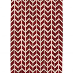 Arlo Geometric Chevron Rug - Red 08