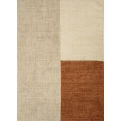 Blox Hand Woven Check Rug - Copper Multi
