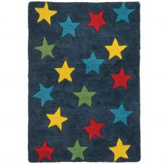 Candy Hand Tufted Kids Stars Rug - Blue 0001