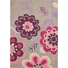 Candy Hand Tufted Kids Flowers Rug - Pink Purple 0007
