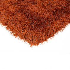 Cascade Table Tufted Plain Rug - Paprika Orange