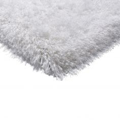 Cascade Table Tufted Plain Rug - Powder White