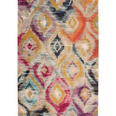 Colores Machine Woven Geometric Rug - Multi 08