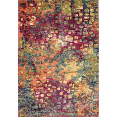 Colores Machine Woven Geometric Rug - Multi 11