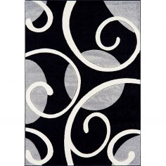 Couture Machine Woven Floral Rug - Grey Multi 06