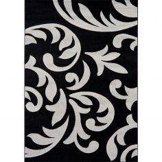 Couture Machine Woven Floral Rug - Silver Grey Multi 08