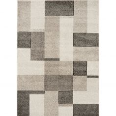 Couture Machine Woven Geometric Runner - Grey Natural Multi 14