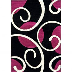 Couture Machine Woven Floral Runner - Purple Multi 04