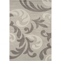 Couture Machine Woven Floral Runner - Grey Cream Multi 13