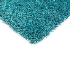 Diva Table Tufted Plain Rug - Teal Blue