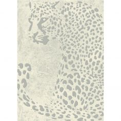 Echo Machine Woven Animal Rug - Grey Cream 01