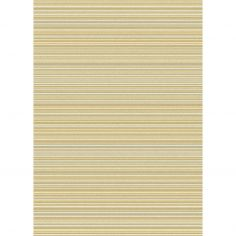 Focus Machine Woven Stripe Rug - Yellow Stripe Multi 05