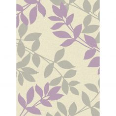 Focus Machine Woven Floral Rug - Purple Multi 09