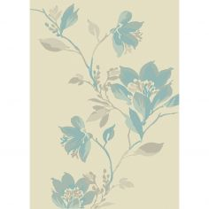 Focus Machine Woven Floral Rug - Blue Grey Multi 11