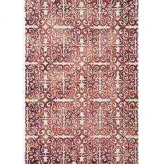 Fresco Hand Tufted Geometric Rug - Red