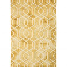 Fresco Hand Tufted Geometric Rug - Yellow