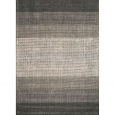 Hays Hand Woven Stripe Rug - Charcoal