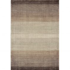 Hays Hand Woven Stripe Rug - Brown