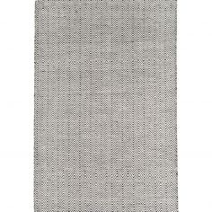 Ives Hand Woven Chenille Runner - Black White