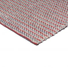 Linden Hand Woven Stripe Rug - Red