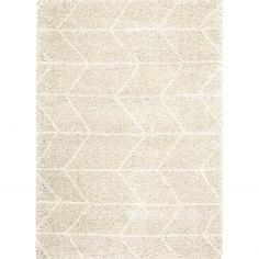 Logan Machine Woven Geometric Rug - Natural 01