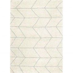 Logan Machine Woven Geometric Rug - Cream Grey 02