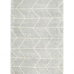 Logan Machine Woven Geometric Rug - Grey 03