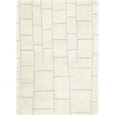 Logan Machine Woven Geometric Rug - Cream Grey 04