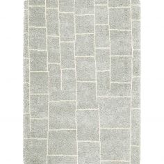 Logan Machine Woven Geometric Rug - Grey 05