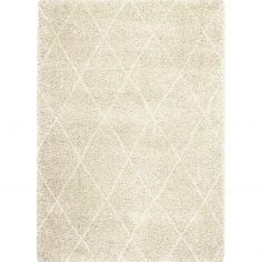 Logan Machine Woven Geometric Rug - Natural 06