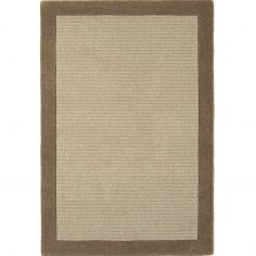 Moorland Hand Woven Plain Rug - Bark Brown