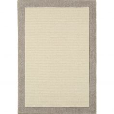 Moorland Hand Woven Plain Rug - Stone Natural