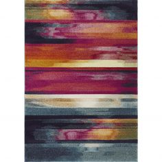 Nova Rug Machine Woven Stripe Rug - Pink Multi 05