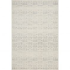 Nova Rug Machine Woven Geometric Rug - Grey Cream 06