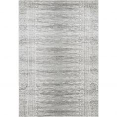 Nova Rug Machine Woven Geometric Rug - Charcoal Grey 07