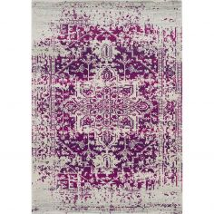 Nova Rug Machine Woven Vintage Rug - Antique Red 08