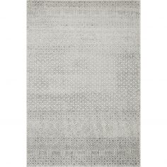Nova Rug Machine Woven Geometric Rug - Grey 19